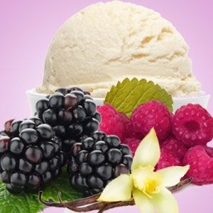 black rasp and vanilla