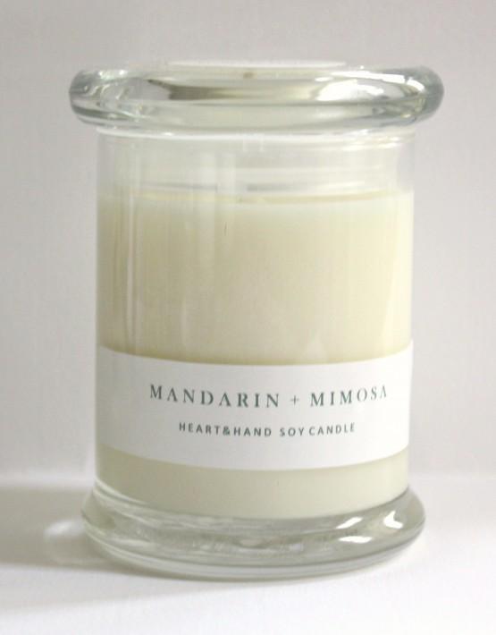 mandarin & mimosa pic monkey candle